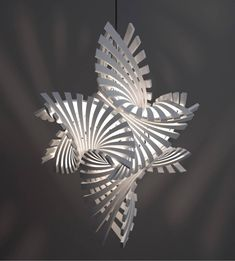 3D printed lamps by Bathsheba Grossman