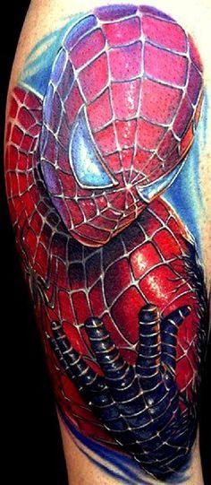 Tatuagem - Tattoos and Ink Ideas - Spiderman Tattoo, Marvel Tattoos, 3d Tattoos, Great Tattoos, Sleeve Tattoos, Tatting, Body Art, Piercings, Ink