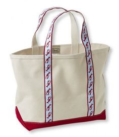 LL Bean Maine Isle Boat and Tote, Lobster Red