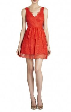 d14c7506bd7 Bcbgmaxazria Willa Red Lace Dress Size S