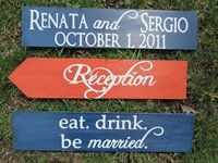 DIY Wood directional signs