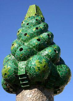 Antoni Gaudi's chimneys 3, Palau Guell, Barcelona