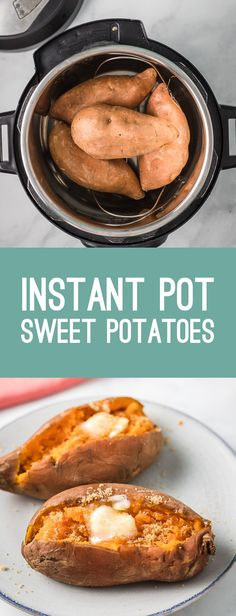 Instant Pot Sweet Potatoes- this recipe shows you how to make the BEST sweet potatoes in your instant pot or pressure cooker and it's so easy! #instantpot #vegan #healthy Pressure Cooker Sweet Potatoes, Boiling Sweet Potatoes, Instant Pot Pressure Cooker, Pressure Cooker Recipes, Cook Potatoes, Instant Cooker, Slow Cooker, Sweet Potato Recipes Healthy, Whole Food Recipes