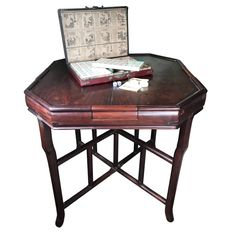 Chinese Antique Gaming Table with Vintage Game, Qing Dynasty, 19th Century | From a unique collection of antique and modern furniture at https://www.1stdibs.com/furniture/asian-art-furniture/furniture/
