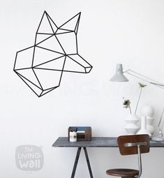 Hoofd Fox geometrische Wall Stickers geometrische door LivingWall