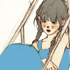 韓國살구 salgoolulu動態圖 Animated Gif Illustrator by 살구 salgoolulu Korean Painting, Creative Pictures, Korean Artist, Pretty Art, Cartoon Art, Kawaii Anime, Art Girl, Amazing Art, Watercolor Art