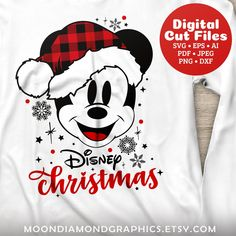 This item is unavailable Disney Christmas Shirts, Disneyland Christmas, Mickey Mouse Christmas, Plaid Christmas, Christmas Svg, Disney Shirts, Disney Holidays, Christmas Stickers, Yule