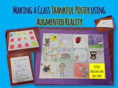 Mrs. Martin Learns: Using Augmented Reality in the Classroom: Thankfulness Comic