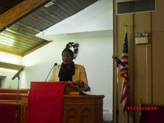 """Lady Wanda McClain-Williams of The Kingdom Builders Ministries/St. Louis, MO going forth in """"It's Time to Deliver!"""" during """"What Time is It?"""""""