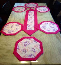 Sousplat jogo pink , rosa e lilás estampa Sakura
