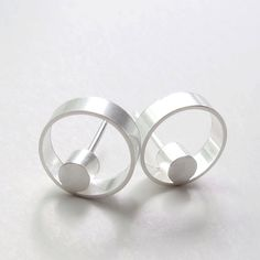 Faunia Earrings. Contemporary Silver Studs by WROXdesign