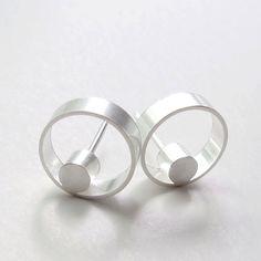 Faunia Earrings Minimalist Geometric Earrings by WROXdesign