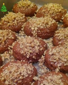 Greek Sweets, Greek Desserts, Mini Desserts, Greek Recipes, Sweets Recipes, Cooking Recipes, Greek Cake, Greek Cookies, Greek Pastries