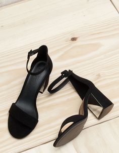 Bershka Turkey - Strappy heeled sandals with ankle strap