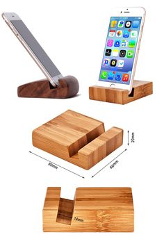 Small Wood Projects, Scrap Wood Projects, Diy Furniture Projects, Woodworking Projects Diy, Diy Phone Stand, Wood Phone Stand, Wooden Phone Holder, Cell Phone Holder, Wooden Crafts