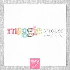 Premade Photographer Logo  Maggie Collection by sugarstudios, $15.00
