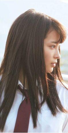 広瀬すず Beautiful Japanese Girl, Japanese Beauty, Beautiful Asian Girls, Asian Beauty, Girl Side Profile, Drawing The Human Head, School Girl Dress, Japanese Models, Japanese Aesthetic