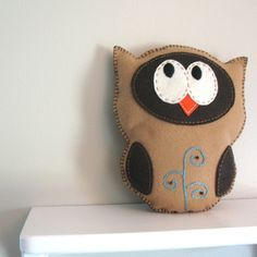 Owl Hand Sewing PATTERN - Make Your Own Felt Stuffed Animal with Hand Embroidery - PDF - Easy. $4.00, via Etsy.