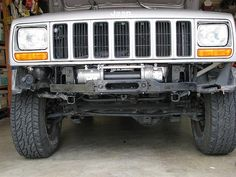 Hidden winch mount XJ Cherokee