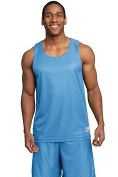 The Sport-Tek PosiCharge Mesh Reversible Tank has an extremely smooth and moisture-wicking windowpane mesh which feels great against the skin while the unrestricted cuts allows complete freedom of movement. PosiCharge technology ensures enduring color. Reversible side is white mesh. Available in several color offerings. #basketball #jerseys #uniforms