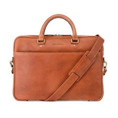 Tan Metro Leather Soft Briefcase // Leather Laptop Bag for men by Urban Safari London www.urbansafarilondon.com