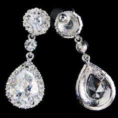 Vintage Inspired Bridal Earrings Wedding Flower by Annamall, $19.99