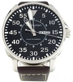 H64715535, 64715535, Hamilton khaki pilot automatic watch, mens
