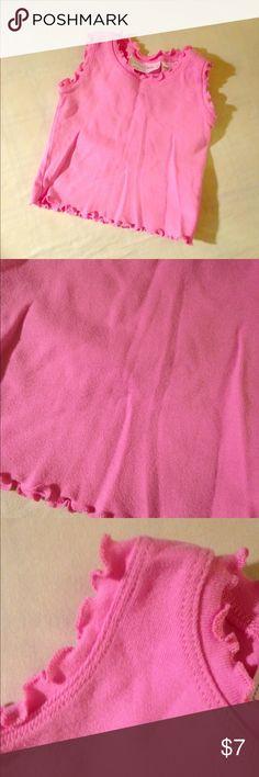 pink ruffle tank top. euc not actually carters brand Carter's Shirts & Tops Tank Tops