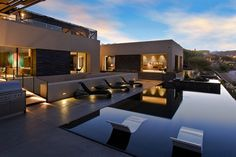 Trendy pool embraces the sleek, contemporary look
