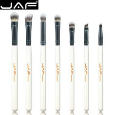 Retail JAF 7-piece Makeup Eye Brushes Set Brushes Make Up Shader Blending Brush for Eye Shadow Makeup Accessory JE07ST