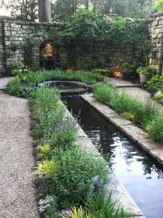 Our Garden, at Dusk.  Cording Landscape Design, NJ.  #mansioninmay #glynallyn #waterfeature