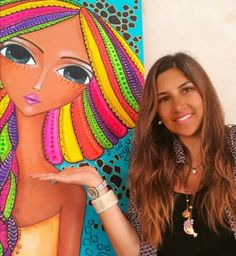 Risultati immagini per romina lerda Pop Art Face, Art Fantaisiste, Art Mignon, Neon Painting, Character Design Girl, Drawing Activities, Acrylic Pouring Art, Madhubani Art, Zentangle Drawings