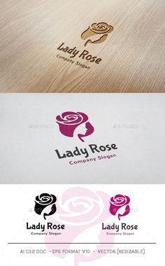 Lady Rose Logo Template PSD, Vector EPS, AI. Download here: http://graphicriver.net/item/lady-rose-logo/11105193?ref=ksioks