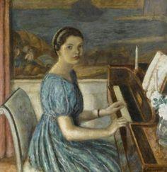Frederick Carl Frieseke - Girl at a Piano (1933)