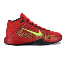 Nike Zoom Ascension Grade School Boys' Basketball Shoes, Size: 4, Dark Red
