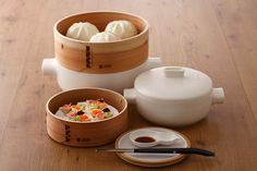 Ceramic and Terracotta Modern Steamer Set – JIA Inc
