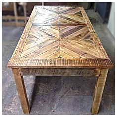 Reclaimed pallet table by DeepRootsPalletWorks on Etsy, $800.00
