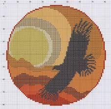 C2C graphgan pattern crochet graph soaring bird