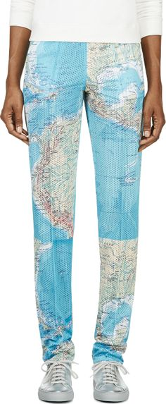 map print trousers - Filles a Papa
