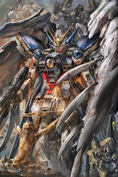 a collection of gundam artwork from around the web Gundam Wing, Art Gundam, Akiba Kei, Power Rangers, Transformers, Zero Wallpaper, Anime Manga, Anime Art, Gundam Wallpapers