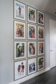 How To Create The Perfect Floor to Ceiling Gallery Wall Photo Display with Picture Frames find out how to do it in your living room with these home accessories Cadre Photo Diy, Cute Picture Frames, Picture Walls, Family Photo Walls, Images Murales, Photowall Ideas, Family Wall Decor, Hallway Wall Decor, Diy Wall