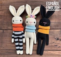 Crochet Bunny Pattern, Crochet Animal Patterns, Stuffed Animal Patterns, Crochet Patterns Amigurumi, Doily Patterns, Dress Patterns, Knitted Dolls Free, Knitting Dolls Free Patterns, Crochet Dolls