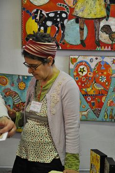 Jill Mayberg - painter and awesome human being by Crystalyn Kae, via Flickr