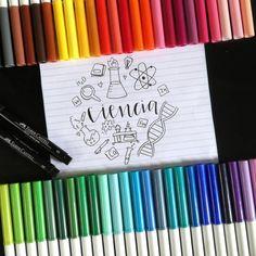 Bullet Journal School, Bullet Journal Themes, Lettering Tutorial, Hand Lettering, School Suplies, Stranger Things, Stabilo Boss, School Notebooks, Beautiful Notes