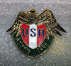 Olympic Games Atlanta 1996 Eagle USA Shield Lapel Hat Pin