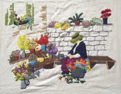 Embroidery Works, Embroidery Ideas, Cross Stitch Embroidery, Hand Embroidery, Front Porches, Love Is All, Trees To Plant, Needlepoint, Landscape Design