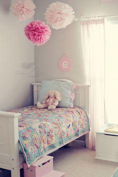 pompones papel seda para la habitación de tu nene