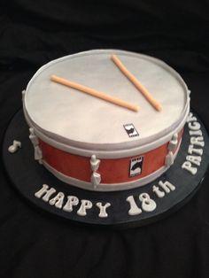 snare drum cake