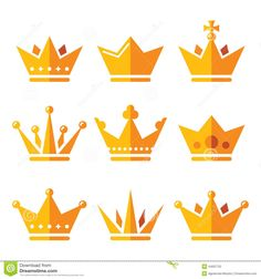Gold Crown, Royal Family Icons Set - Download From Over 56 Million High Quality Stock Photos, Images, Vectors. Sign up for FREE today. Image: 44097752