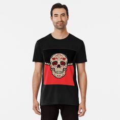 Promote | Redbubble Skull Design, Mens Tops, T Shirt, Fashion, Supreme T Shirt, Moda, Tee Shirt, Fashion Styles, Fashion Illustrations